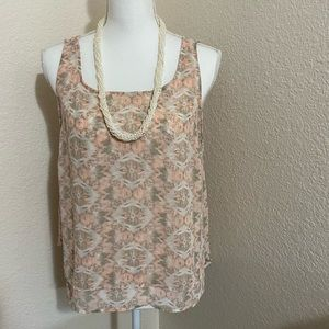 BCBGeneration pink and tan tank top